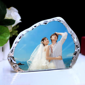 Home Decoration High Quality Crystal Glass Iceberg Photo Frame pictures & photos