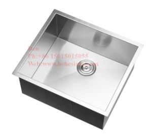 Kitchen Sink, Stainless Steel Sink, Sink, Handmade Sink, Stainless Steel Square Handmade Kitchen Sink, Zero Radius Handmade Sink pictures & photos