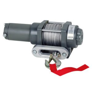 ATV Electric Winch with 2000lb Pulling Capacity, Waterproof, Synthetic Rope pictures & photos