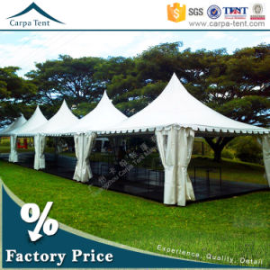50 People Expandable Cheap High Peak Pagoda Tents for Wedding Party 5m X 5m pictures & photos