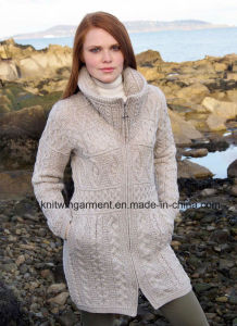 China Women Winter Wool Heavy Sweater Coat with Buttons - China ...