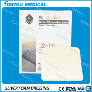 Foryou Medical Wound Care Dressing Medical Supplies Antimicrobial AG Foam Dressing Silver Absorbing Pad pictures & photos