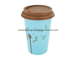 Promotional Ceramic Full Printingtravel Coffee Mug with Lid (CPBZ-4005) pictures & photos