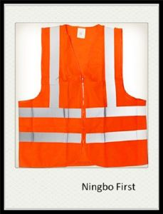 Yellow High Visibility Reflective Safety Vest pictures & photos