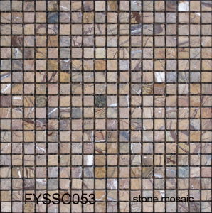 Floor Tile 300*300 Rustic Construction Material Marble Mosaic for Building Material (FYSSCO56) pictures & photos