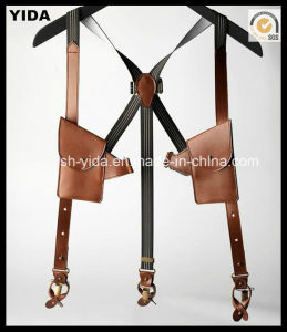 2016 Hot Sale Genuine Leather Suspender with Pockets (YD-15277)