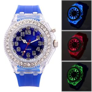 2016 Fashion Crystal Silicone Band Jelly Watch for Promotional pictures & photos