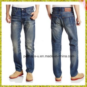 Classical Mens Indigo Leisure Jeans pictures & photos