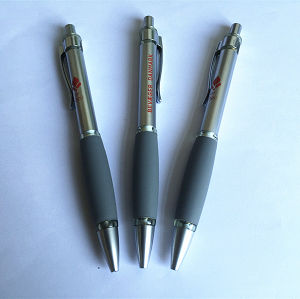 Gray Color High Quality Promotional Metal Ball Pen pictures & photos