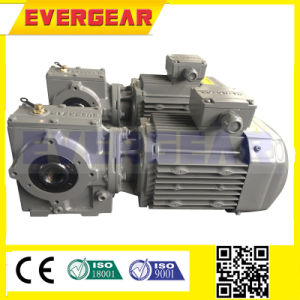 S Series High Speed Helical Worm Reducer Gearbox Speed Reducer with Motor pictures & photos