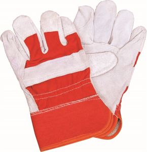 Whole Leather Safety Working Gloves pictures & photos