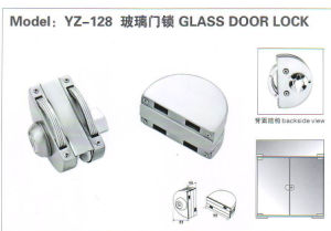 Yz-128 Stainless Steel Stainless Iron, Zinc Alloy Glass Door Lock pictures & photos