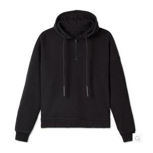 Black Fashion 100% Cotton Fleece Hoodies for Men pictures & photos