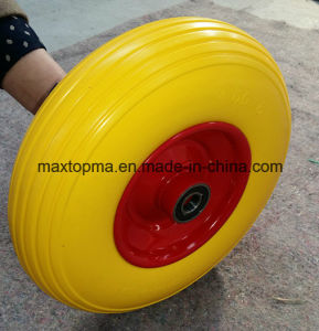 400-6 Flat Free PU Foam Wheel pictures & photos