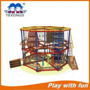 2016 High Wooden Indoor Rope Courses Playground for Kids pictures & photos