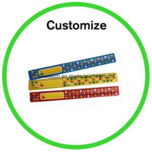 Custom Logo Reflective Silicone Wristband pictures & photos