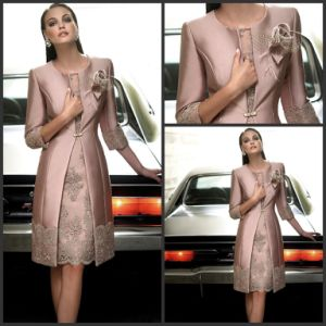 Applique Mother of The Bride Dress 3/4 Sleeves Suits Evening Dress B33 pictures & photos