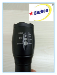 Zoomable High Quality LED Bright Rechargeable Flash Light pictures & photos