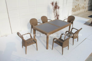 Hand-Made PE Rattan Wicker Outdoor Dining Chair and Table (BP-3035) pictures & photos