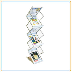Folding Floor Standing Magazine Shelf, Brochure Stand Display (A4) pictures & photos