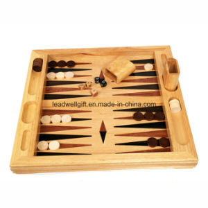 Wood Table Top Backgammon Set pictures & photos