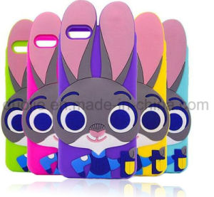 3D Rabbit Silicone Phone Case for Samsung J7 J5 J510 J710 Mobile Phone Accessories (XSD-003)