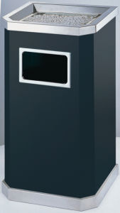 Best Selling Sand Grain Steel Trash Can (YH-10C) pictures & photos