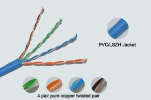 PVC/Lszh Jacket UTP CAT6 pictures & photos