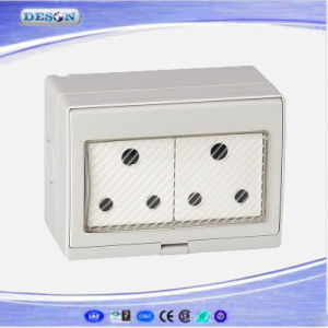 IP55 2 Gang Waterproof South Africa Wall Socket pictures & photos