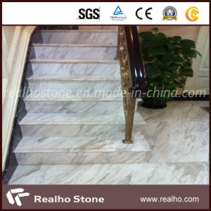 Volakas White Marble Stairs Step/Treads With Bevel Edge