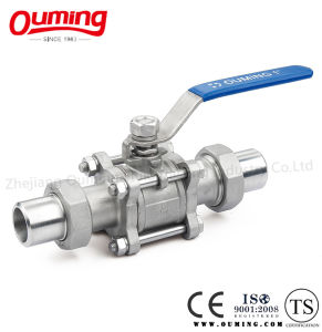 3 Piece Non-Standard Union Stainless Steel Ball Valve pictures & photos