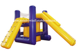 Giant Inflatable Pool Water Park with Water Slide Blobs & Jumping Bounce Stage pictures & photos