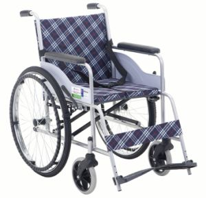 Fixed Armrest and Footrest Economic Steel Wheelchair