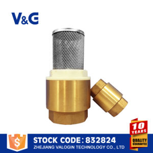 Brass Foot Valves with Filter Screen (VG12.90031) pictures & photos