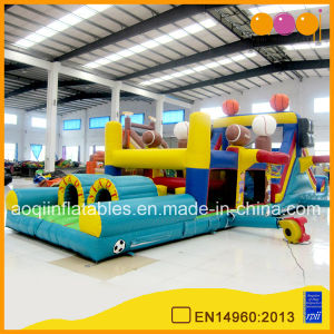New Designed Inflatable Obstacle Course with Slide (AQ1477-1) pictures & photos