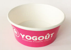 3 4 5 6 8 12 16 20 24 32oz Custom Logo Printed Paper Ice Cream Frozen Yogurt Cups with Lids Spoons pictures & photos