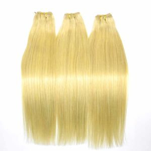 Blonde Brazilian Remy Human Hair Weft (16 inch-Straight) pictures & photos