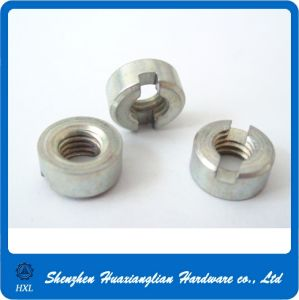 DIN 546 Steel M3 M4 M5 Slotted Round Threaded Nut pictures & photos
