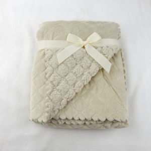Sherpa Baby Blanket with Solid Color Micro Mink (UL002) pictures & photos