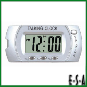 2015 New Arrival LCD Talking Alarm Clock with Backlight, Desktop LCD Talking Alarm Clock, Hot Sale Magic LCD Talking Clock G20c115 pictures & photos