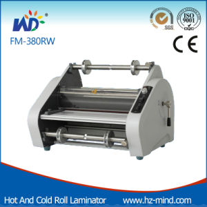 Professional Manufacturer (FM-380RW) Double Side Laminating Cold and Hot Roll Laminator pictures & photos