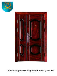 Red Brown Metal Steel Security Door for Main Door (SD-025) pictures & photos