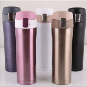 500ml Creative Lid Portable 18/8 Stainless Steel Vacuum Mug (DC-HL2-500) pictures & photos