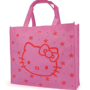 Hello Kitty Portable Reusable Nonwoven Fabric Grocery Shopping Tote Bag pictures & photos