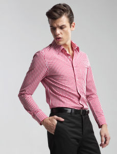 Egyptian Cotton Men′s Slim Fit Long Sleeve Fashion Shirt pictures & photos