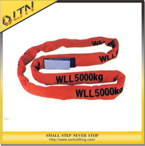High Quality Polyester Lifting Round Webbing Sling (NHRS-B) pictures & photos
