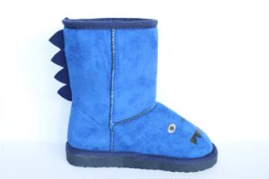 Children′s High Boots with Print