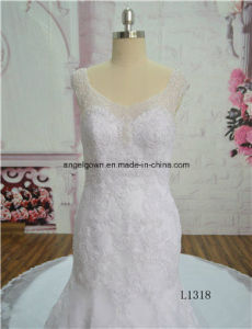 China Elegant Sweetheart Chapel Train Bridal Gown Dress OEM Service pictures & photos