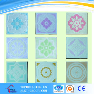 Colorful Gypsum Ceiling Tile/Fiber Glass Gypsum Ceiling/Gypsum Board/595*595*9mm pictures & photos