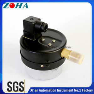 Economic Type Magnetic Electric Contact Manometers Steel Case Brass Connector pictures & photos